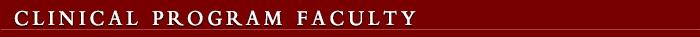 Clinical Program Faculty