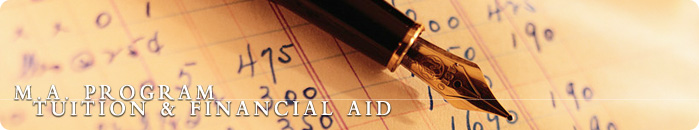 M.A. Program Tuition & Financial Aid